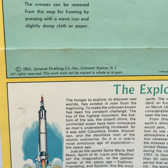 Vintage Map Journeys of Discovery and Exploration - Image 6 of 9