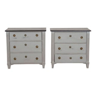 19th Century Antique Swedish Gustavian Nightstands-a Pair For Sale