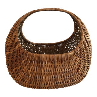 20th Century Boho Chic Wicker Basket For Sale