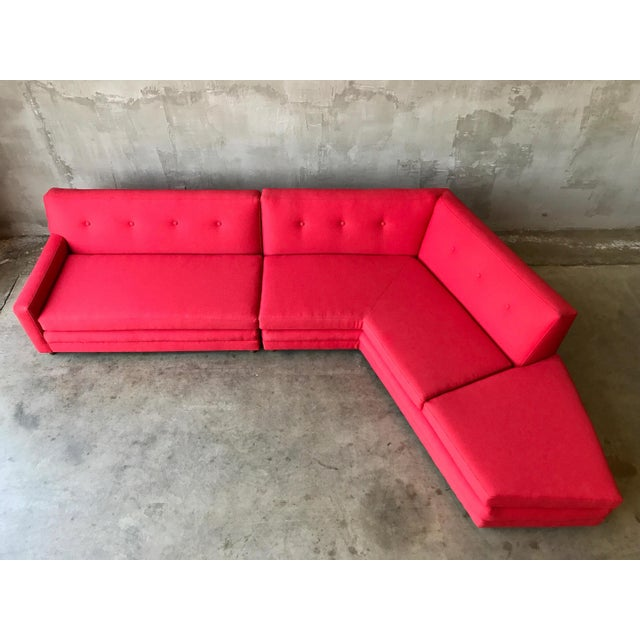 Harvey Probber Style Angular Sectional - Image 6 of 6