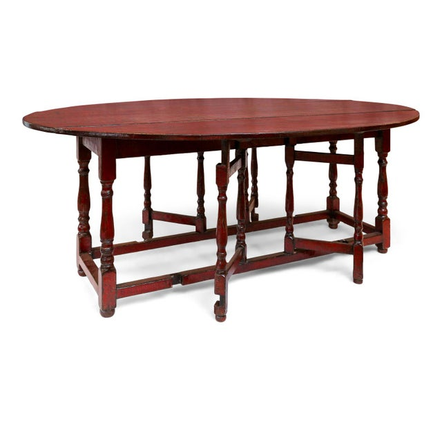 Red Lacquered English Table For Sale - Image 11 of 13