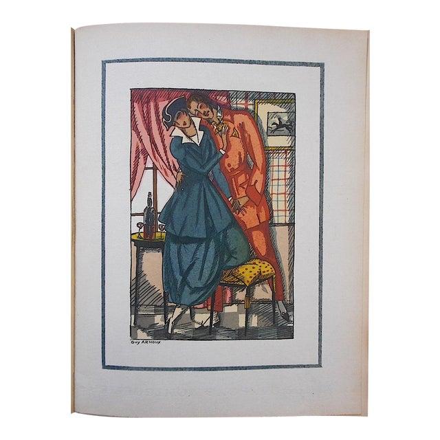 """Vintage Ltd. Ed. Hand Colored Image By Guy Arnoux""""Les Femmes De Ce Temps""""-La Froleuse (The Seductive Woman)""""-France-1920 - Image 1 of 7"""