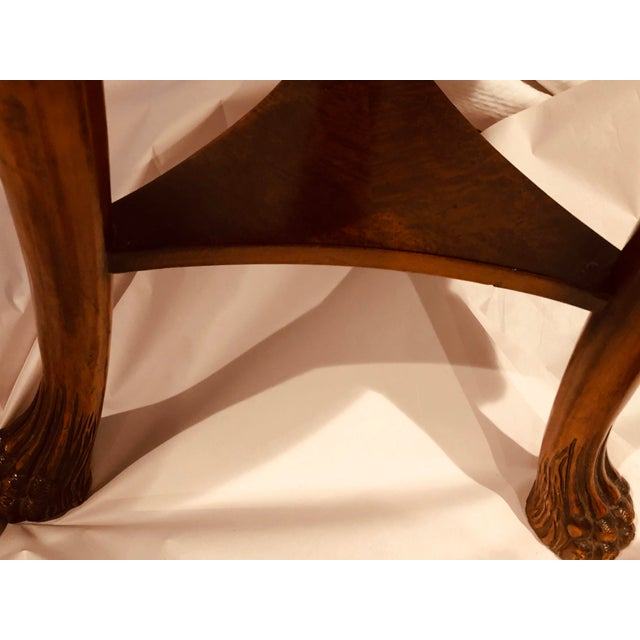 Brown Final Call 19th Century Baroque Lion Head/Foot Mahogany Side Table - to Be Delisted 5/27 For Sale - Image 8 of 10