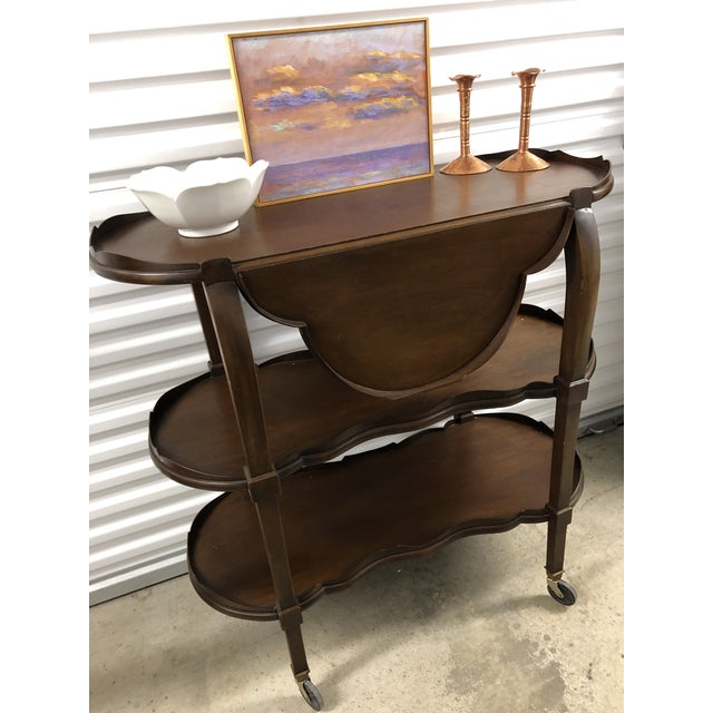 20th Century Traditional Three Tier Shelf or Bar For Sale - Image 10 of 11