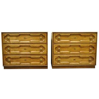 1960s Hollywood Regency Drexel Heritage Bachelor Chests - a Pair For Sale