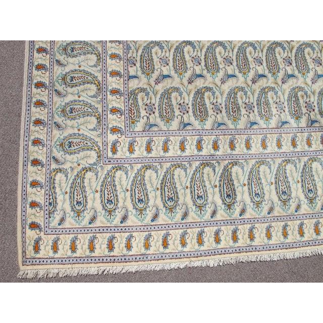 Islamic Boteh Jegheh Design Persian Kashan Rug - 10′ × 12′7″ For Sale - Image 3 of 6