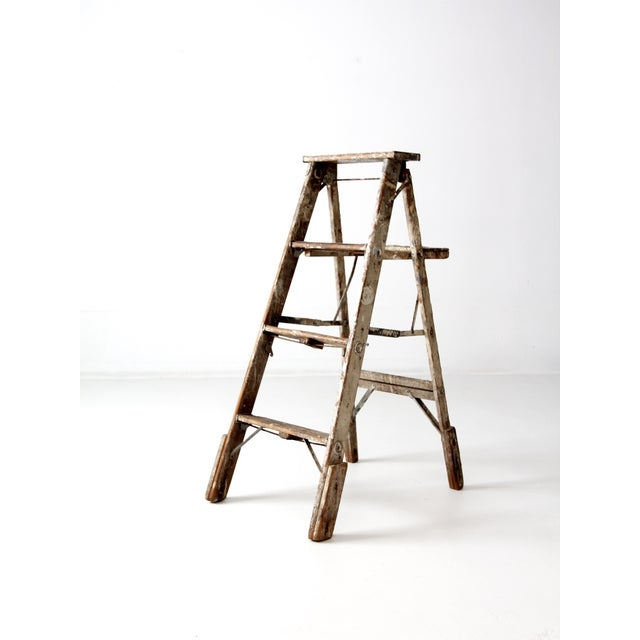 Vintage Rustic Wooden Painter's Ladder - Image 2 of 11