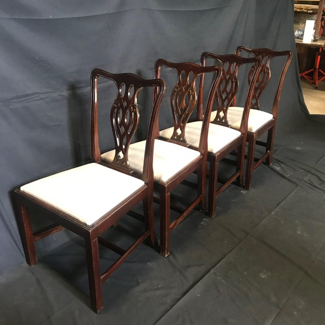 19th Century Antique English Mahogany Chippendale Style Dining Chairs-Set of 6 For Sale - Image 10 of 13