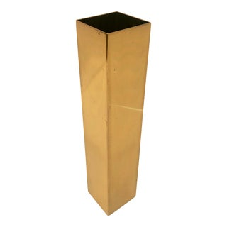 1970's Modernist Solid Brass Wall Pocket Vase For Sale