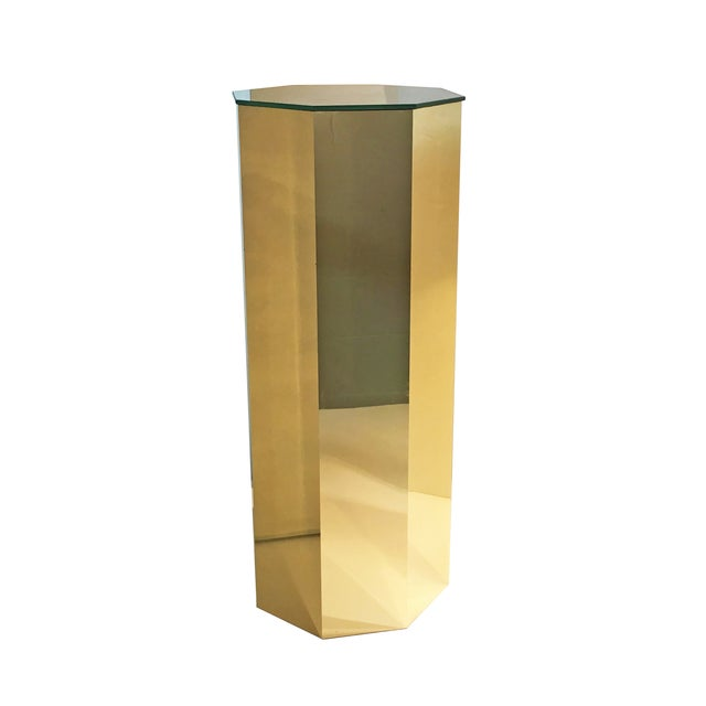 Brass Hexagonal Pedestal Column - Image 3 of 6