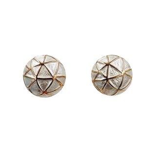 1960s Boucher White Enamel Earrings For Sale