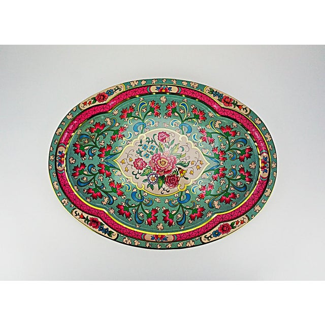Vintage Floral Metal Tray by Daher - Image 2 of 6