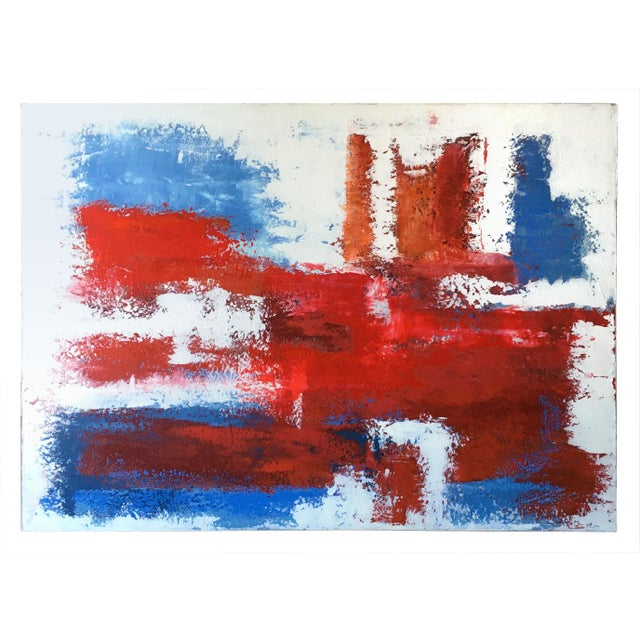 Mario Sergio Lopomo Vintage Abstract Painting For Sale - Image 10 of 10