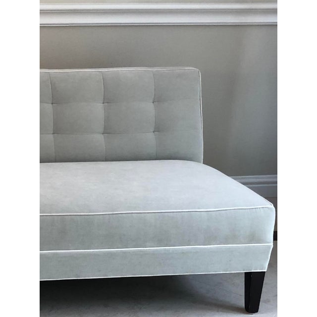 Mitchell Gold + Bob Williams Mitchell Gold Bob Williams Modern Gray Velvet Sofa For Sale - Image 4 of 6