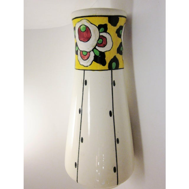 This is a lovely, sumptuous 1920s art deco vase by renowned Belgian art pottery studio Boch Freres La Louviere. It...