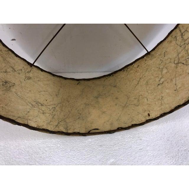 Beige Vintage Mid Century Modern Beige Round Fiberglass Lamp Shade For Sale - Image 8 of 10