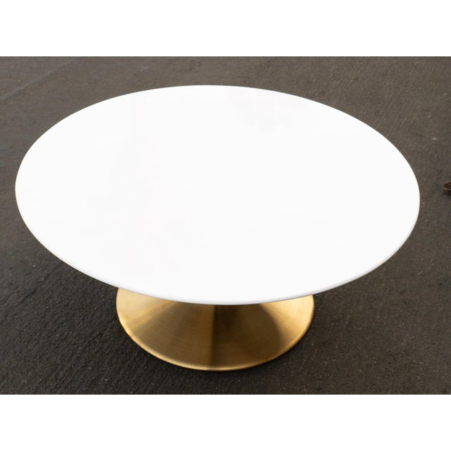 Make your living room a little more fun with a brand new brass base white top coffee table. We are loving this brand new...