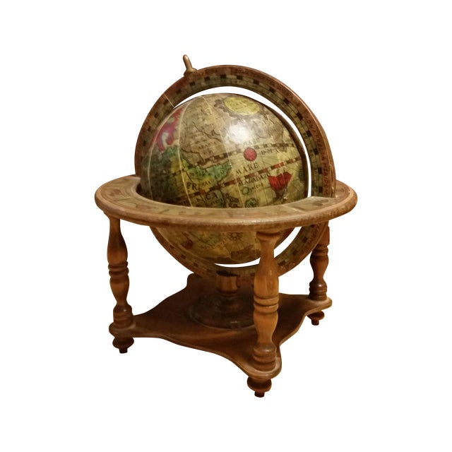 Vintage Italian Mini Old World Horoscope Globe - Image 1 of 8