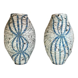 Early 21st Century Two Ways Mosaic Turkish Vessels- a Pair For Sale