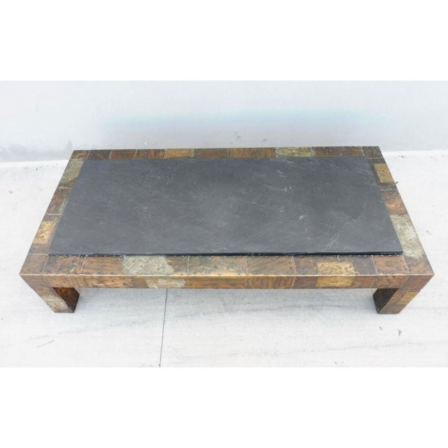 Aluminum 1970's Directional Paul Evans Patchwork Coffee Table For Sale - Image 7 of 9