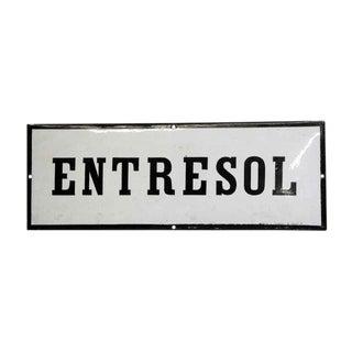 Vintage European Entresol Mezzanine Wall Sign