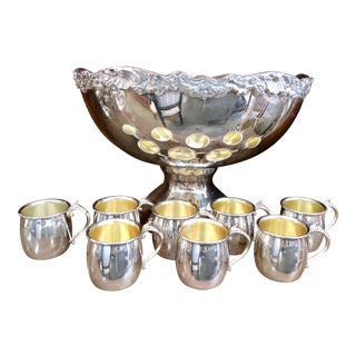 Silver-Plated Towle Punch Bowl For Sale