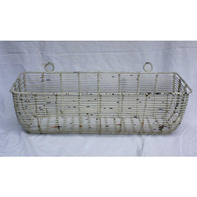 White Iron Basket Planter - Image 2 of 3