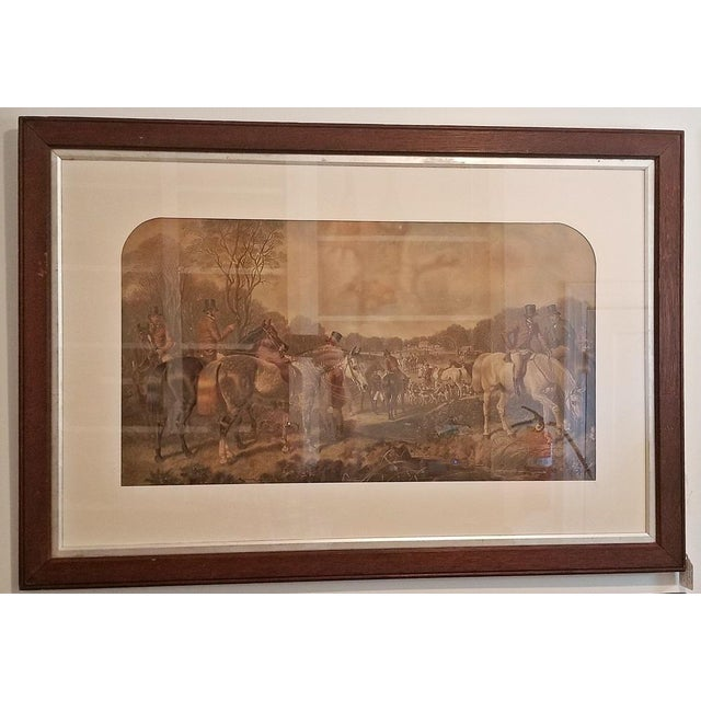 19c Set of 4 Original Engravings of Hunting Scenes by John Frederick Herring Snr - Image 7 of 11