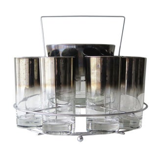 Mid-Century Silver Fade Cocktail Set of 11 For Sale