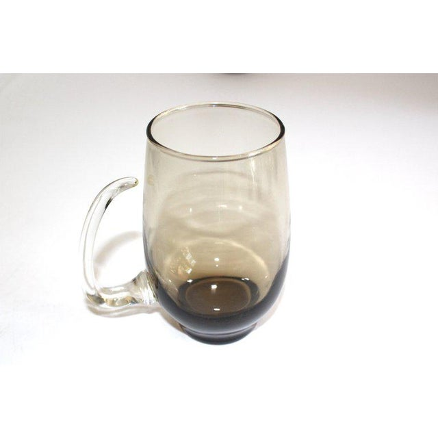 Gray Set of Six Mid-Century Modern Tinted Glass Mugs by Libbey Glass Co. For Sale - Image 8 of 13