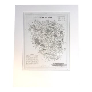 "19th C. Map of Seine & Oise, France, ""Petit Atlas..."" 1833"