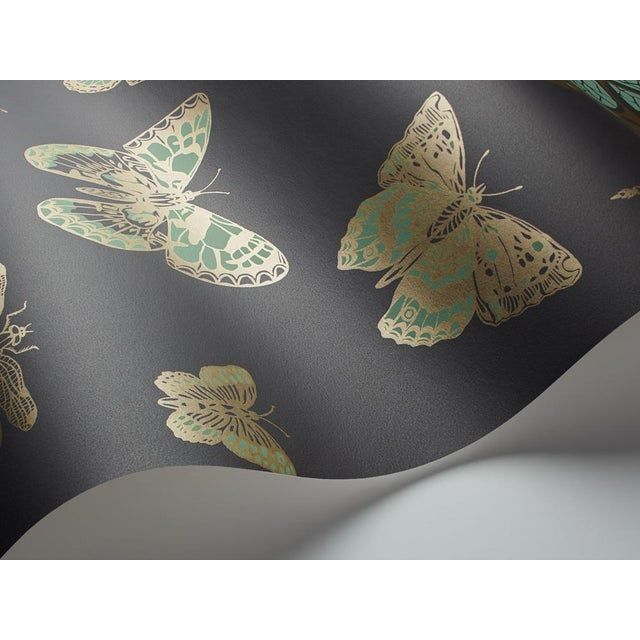 Taken from the Cole & Son archives this elegant design surprises with its scale. It features large graphical butterflies...