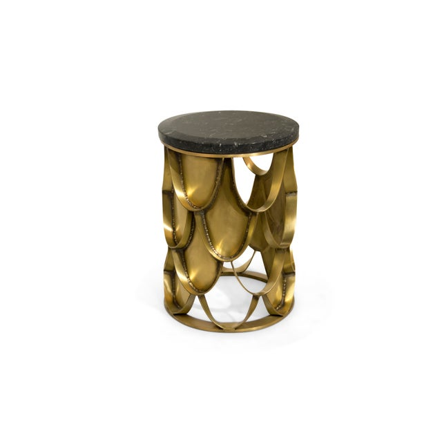 Asian Koi Side Table From Covet Paris For Sale - Image 3 of 9
