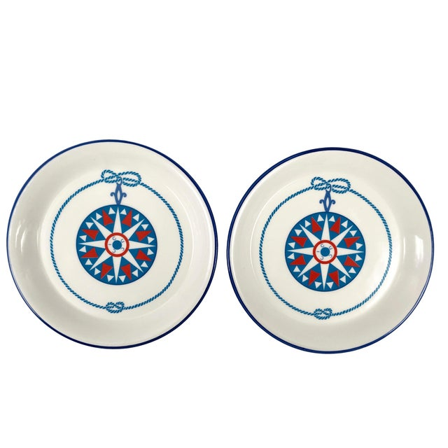 Mid-Century Modern Gucci Porcelain Nautical Trinket Dish For Sale - Image 3 of 6