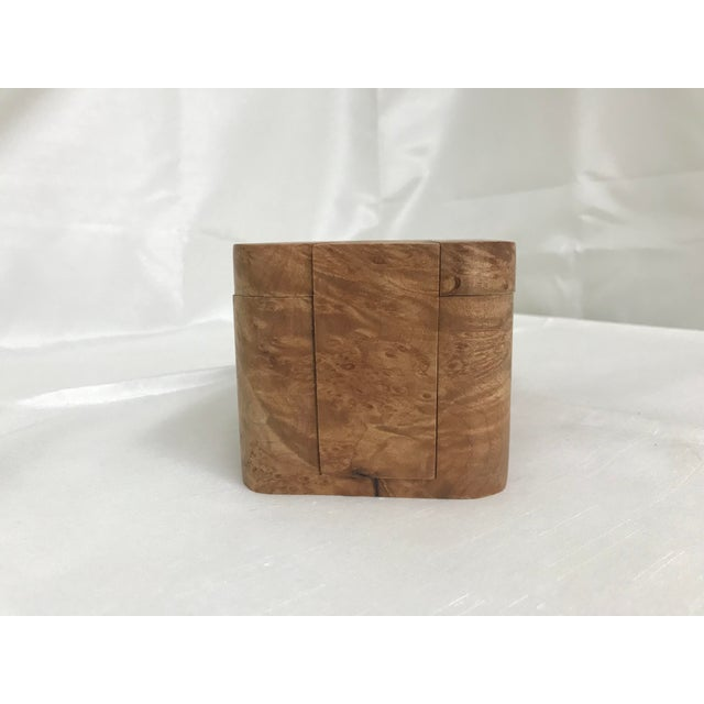 Contemporary Burl Wood Puzzle Box - 5 Pieces For Sale - Image 3 of 9