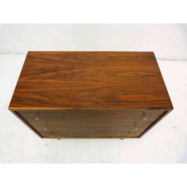 Walnut Three-Drawer Bachelor Dresser Chest - Image 3 of 10