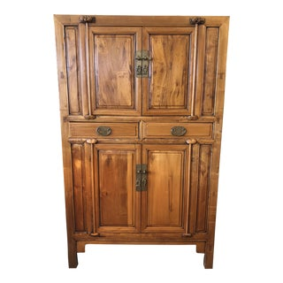 1900s Asian Antique Elmwood Storage Cabinet