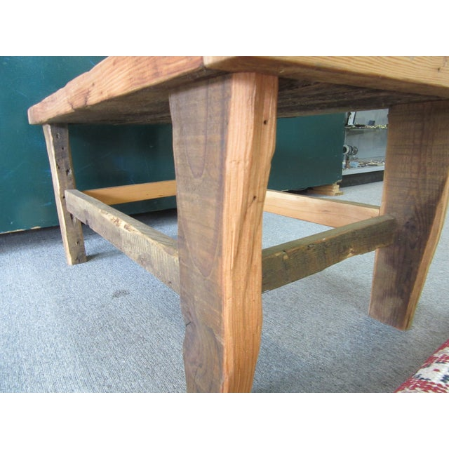 Rustic Reclaimed Pine Peg-Jointed Coffee Table - Image 8 of 11