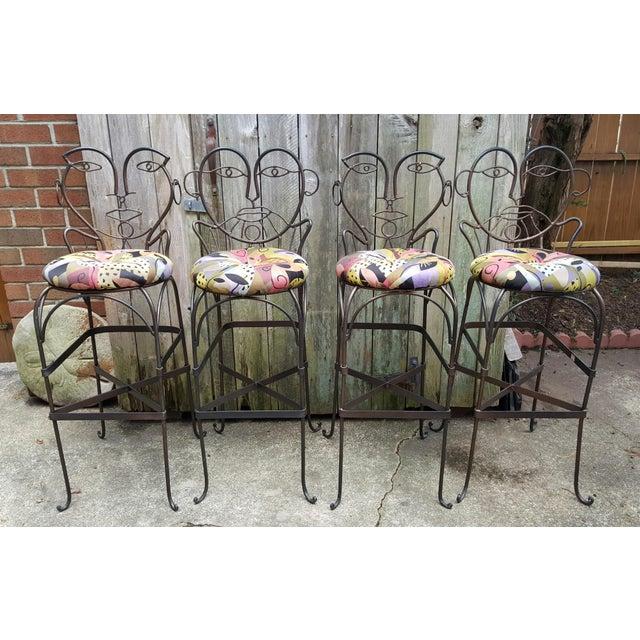 John Risley Style Bar Stools - Set of 4 - Image 2 of 10