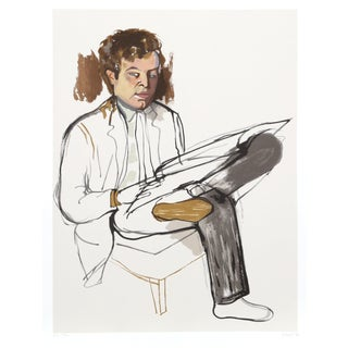 """Alice Neel, """"Portrait of Edward Avedesian"""", Lithograph For Sale"""