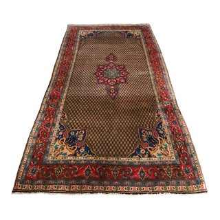 1930s Middle Eastern Hand-Knotted Wool Rug For Sale