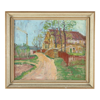 Gunnar Lindberg Impressionist Oil Painting For Sale
