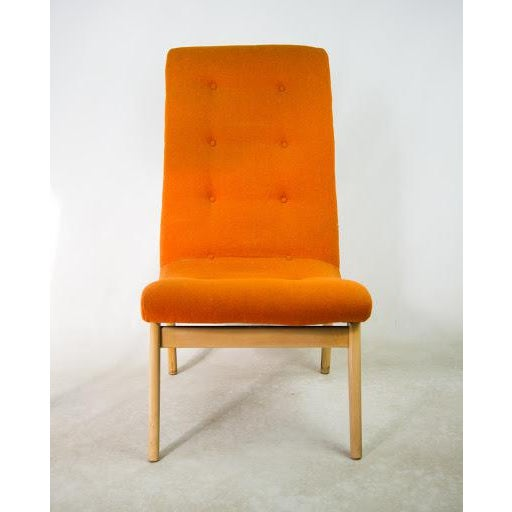 Norman Bel Geddes Mid-Century Modern Orange Side Chair - Image 3 of 9