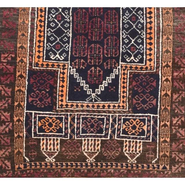 "Semi-Antique Persian Gabbeh Rug, Size 2'4"" x 2'10"", Circa 1960's"