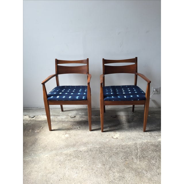 Walnut Mid-Century Dining Chairs - A Pair - Image 2 of 6