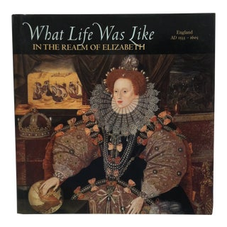 """1998 """"What Life Was Like in the Realm of Elizabeth"""" Coffee Table Display Book For Sale"""