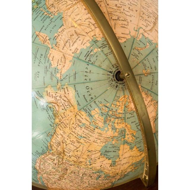 Wood Dunbar Illuminated Terrestrial Globe For Sale - Image 7 of 8