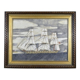 Sailor's Woolwork 'Woolie' of a Royal Navy Frigate For Sale
