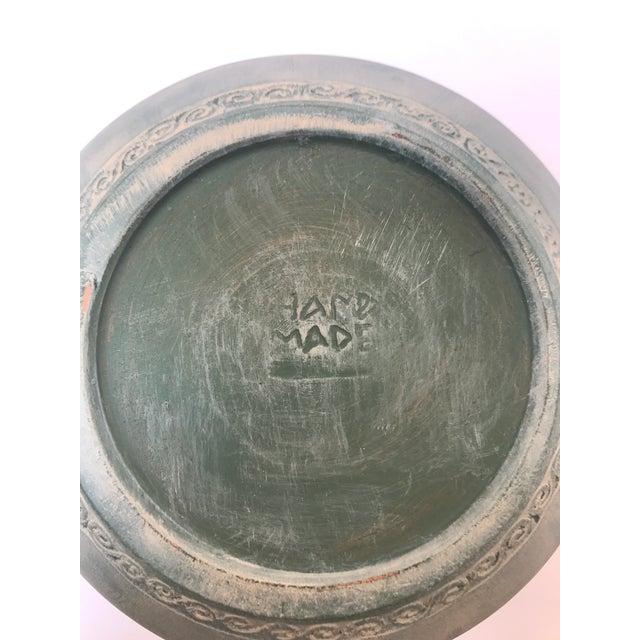 Vintage Green Boho Vase For Sale - Image 4 of 6