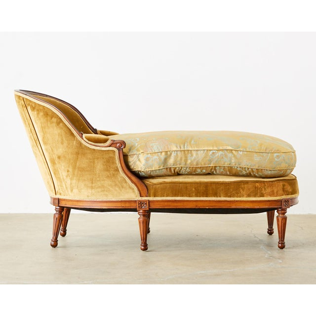 French Louis XVI Style Chaise Longue Daybed For Sale - Image 4 of 13